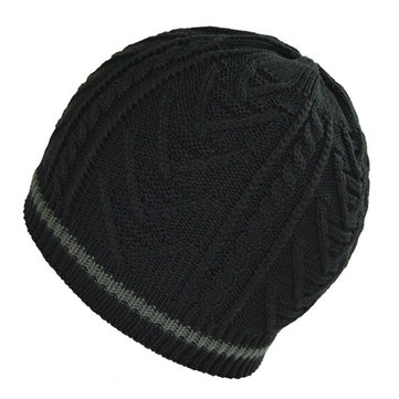 Men Thickening Winter Warm Knitted Skullies Hat