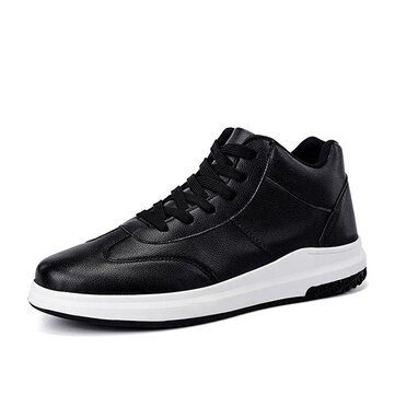 Mannen Comfortabele Originele Leren High Top Sneakers