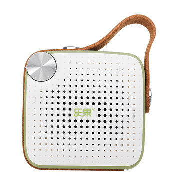 NOGO H1 Bluetooth 4.1 Wireless Speaker FM Radio with Leather Strap Support TF Card AUX