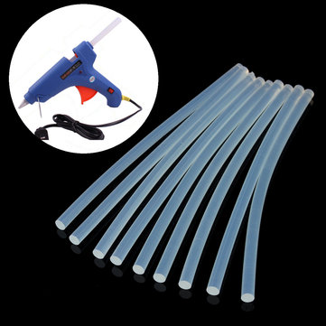10pcs 7mm x 200mm EVA Clear Hot Melt Glue Sticks Adhesive Sticks For Glue Gun