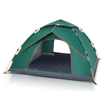 4-5 People Waterproof Camping Tent Outdoor Automatic Instant Pop Up Windproof Canopy Sunshade
