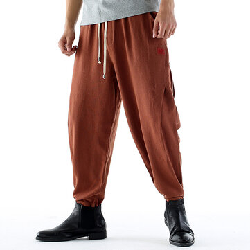 Men's Loose Comfy Retro Cotton Linen Casual Pants