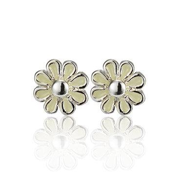 Punk Alloy Daisy Flower Luminous Ear Stud Earrings For Women