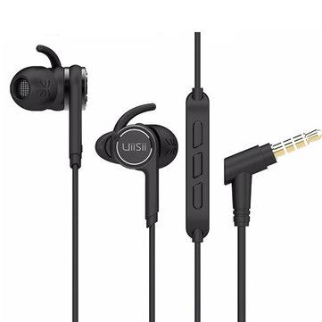 UiiSii BA-T7 In-ear Earphone Earphones Wired Earphone with Microphone Sport Running Earbuds