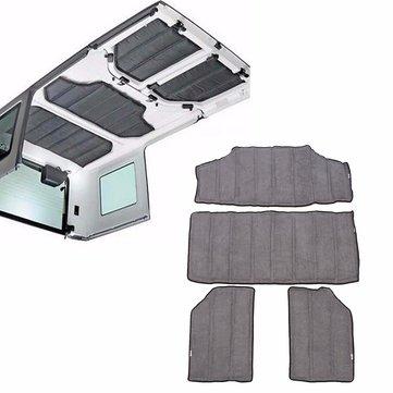 4pcs Hardtop Sound Heat Insulation Kit For 2011-2016 Jeep Wrangler JK 4 Doors