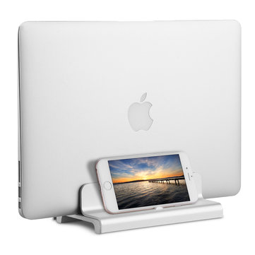 Aluminium Alloy Vertical Adjustable Laptop Stand Holder for Notebooks Macbook Pro/Macbook Air