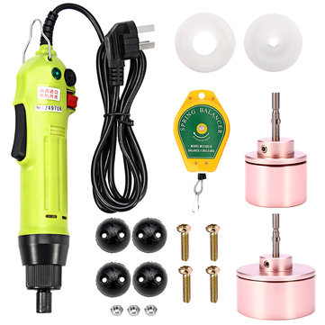 220V 80W Electric Capping Machine Handle Manual Bottles Cap Sealer Sealing 10-50mm Dia