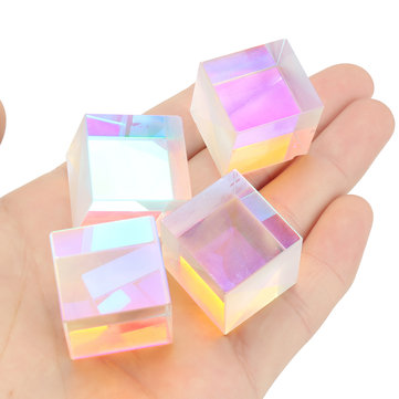 4Pcs 23mm Dichroic Cube Defective RGB Optical Prism Teaching DIY Decoration