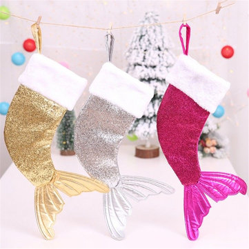 Christmas Sequin Hanging Socks Gift Bag Christmas Tree Decoration Party Ornaments Xmas