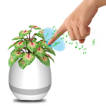 Honana FGP1 USB Bluetooth Music Flower Pot Electrostatic Induction Night Light Flower Pot