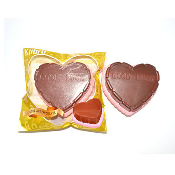 Kiibru Squishy Jumbo Chocolate Heart Cake 12cm Slow Rising Original Packaging Collection Gift Decor