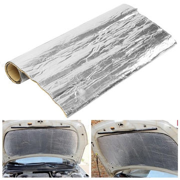 100cmx100cm Heat Insulation Cotton Mat Fiber Glass Shield For Car Turbo Engine Hood Muffler