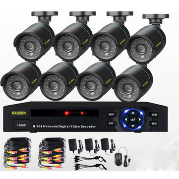 8CH 1080P CCTV DVR 1500TVL Outdoor 960H Security WIFI Camera System Night Vision 1080N DVR DV Redorder Camcorder