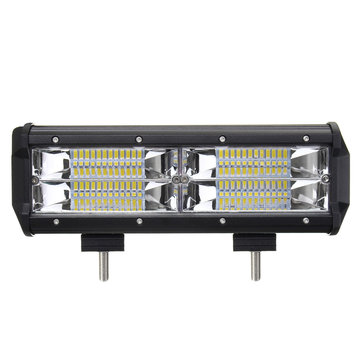 8D 7Inch 144W LED Work Light Bars Flood Spot Combo Beam for Off Road Car Truck DC 10-30V White