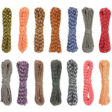 100ft 30m 7 Inner Strand Rainbow Color Paracord Rope Parachute Cord Camping Hiking EDC Rope TYPE III
