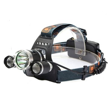 XM-L T6 LED Bicycle Light 3T6 Rechargeable Headlamp Headlight Torch 4 Modes With Rechargeable 18650