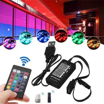 DC5-12V 72W Mini Smart WiFi Remote Controller Work With Alexa Google Home For RGB LED Strip Light