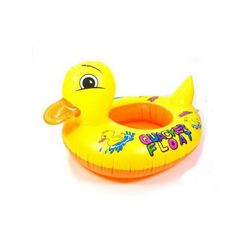 Children Swim Learning Ring Duck Style Inflatable Swimming Ring Seat Float Boat