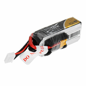 TATTU 14.8V 450mAh 75C 4S Lipo Battery XT30U-F Plug for RC Racing Drone