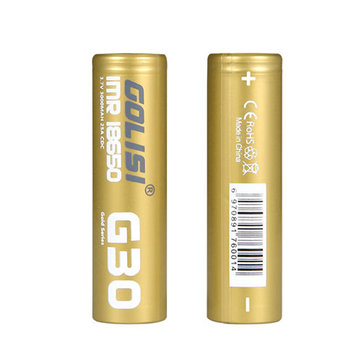 2PCS GOLISI G30 IMR18650 3000mah 25A High-drain Rechargeable 18650 Battery