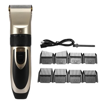 Rechargeable Hair Trimmer Electric Cordless Clipper Shaver Men Children Home Salon Use Tool