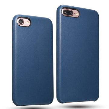 Navy Blue PU Leather Shockproof Case For iPhone 7/7 Plus & 8/8 Plus