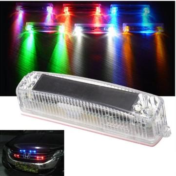범용 솔라 비컨 스트로브 플래시 LED 라이트 그릴 대시 비상 경고 램프