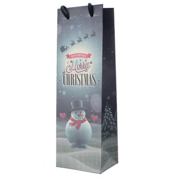 Merry Christmas Party Home Decoration Wine Bottle Gift Bag Toys For Kids Children Gift