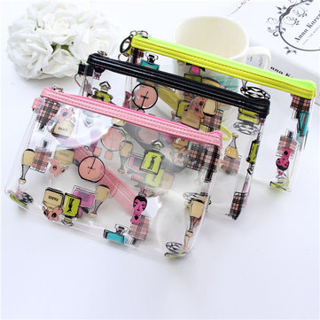 Transparent Waterproof Make Up Bag Cosmetic Storage PVC Handbag Clutch Pouch