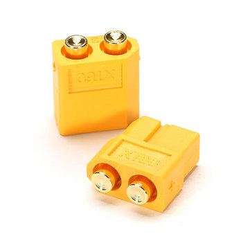 Amass PCB Dedicated XT60-P Plug Connector Male & Female for PCB Board 1 Pair
