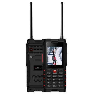 al aire libre T2 IP68 Impermeable 2.4 pulgadas 4500mAh UHF Walkie Talkie Tarjeta SIM Dual Feature Phone Lanuage Version 2