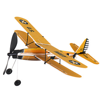 STEM ZT Model 18 Inches STEARMAN Rubber Band Powered Aircraft Model Plane Toy
