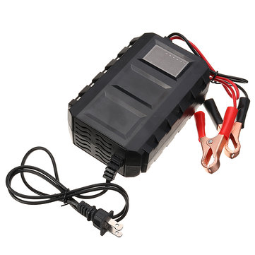 12V 10A Smart Automatic Electric Lead Acid Battery Charger LCD Screen For Car Truck Motorcycle