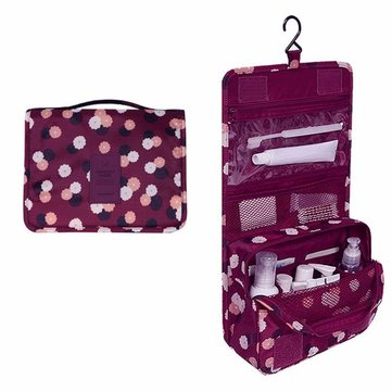 Women Waterproof Foldable Travel Organizer Bathroom Storage Cosmetic Bags Hanging Toiletry Bags