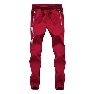 Mens Spring Casual Jogging Sports Pants Elastic Waist Breathable Sport Trousers Size S-4XL