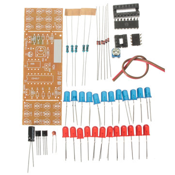 DIY Two-color LED Flashing Light Electronic Kit Circuit Board