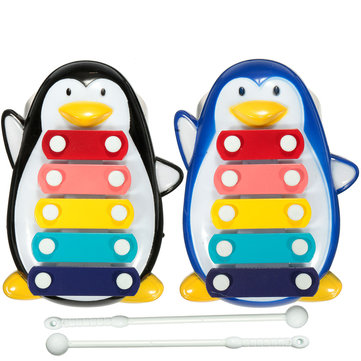 Baby Children Kids Penguin 5 Note Xylophone Musical Instrument Wisdom Smart Early Educational Development Toys