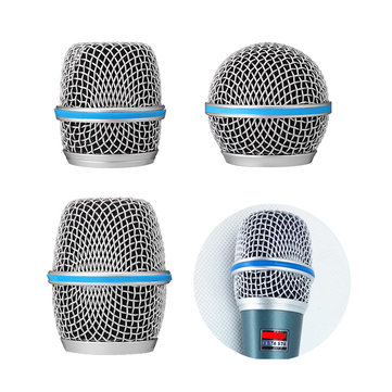 Microphone Grille Metal Windscreen Fits Beta 58A/57A/87A Microphone