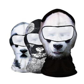 Мотоцикл животное тема головной убор езда панда прекрасная личность Coldproof ветрозащитные маски для лица