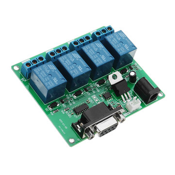 DC 5V 12V 4 Channel RS232 Serial Relay Control Module Switch Board SCM PC Controller