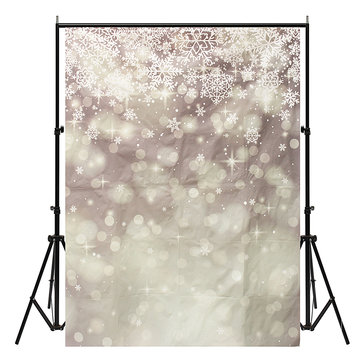 5x7ft Vinyl Christmas Snow Photography Backdrop Background Studio Photo Props