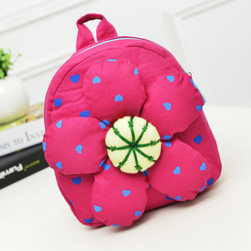 Kindergarten Kids Lovely Flower Canvas Backpack Casual Butterfly School Bag