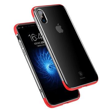 Baseus Zırh Anti Sarı Ultra İnce Şeffaf Soft TPU Kılıf iPhone X için