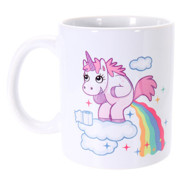 Funny Rainbow Unicorn Ceramic Mug Coffee Milk Tea Cup Home Office Christmas Kids Gift