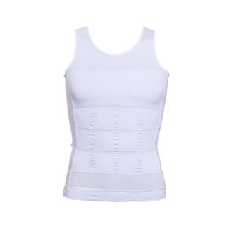 Mens Swimming Slim Body Shapper Sport Vest Underwear Compression