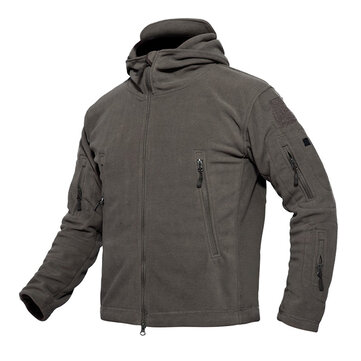 Mens Warm Fleece Hooded Jacket