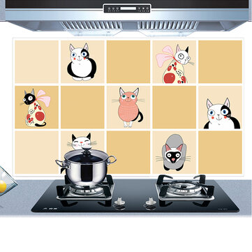 KCASA KC-WS025 45 x 75cm PVC Kitchen Removable Oil-proof Waterproof Wall Sticker Paper Home Decor