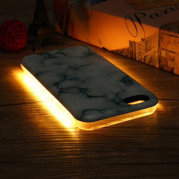 3D Marble LED Light Glowing Selfie Luminous Case for iPhone 6/6s Plus 7/7 Plus 8/8Plus