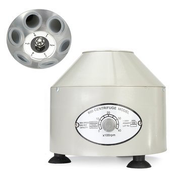 Electric Centrifuge Machine Adjustable Speed with Rotate Button for Lab 110V/220V