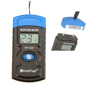 HoldPeak HP-2GD 3-in-1 Mini LCD Hygrometer Temperature Humidity Meter Moisture Meter